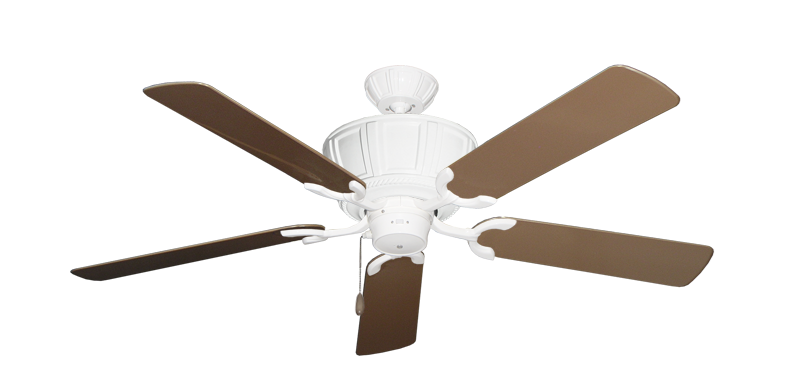 """Picture of Centurion Pure White with 52"""" Outdoor Brown Blades"""