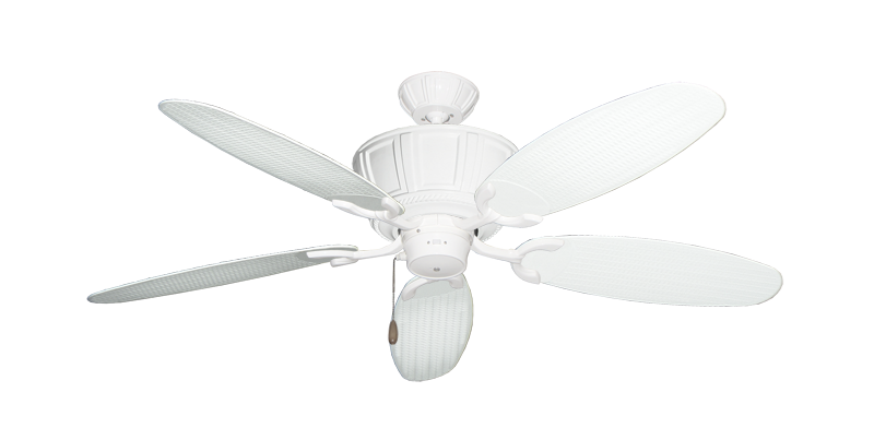 "Picture of Centurion Pure White with 52"" Outdoor Wicker Pure White Blades"