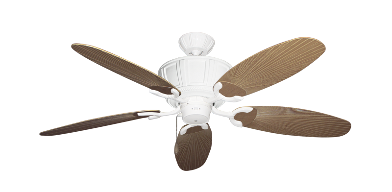 "Picture of Centurion Pure White with 52"" Outdoor Leaf Tan Blades"
