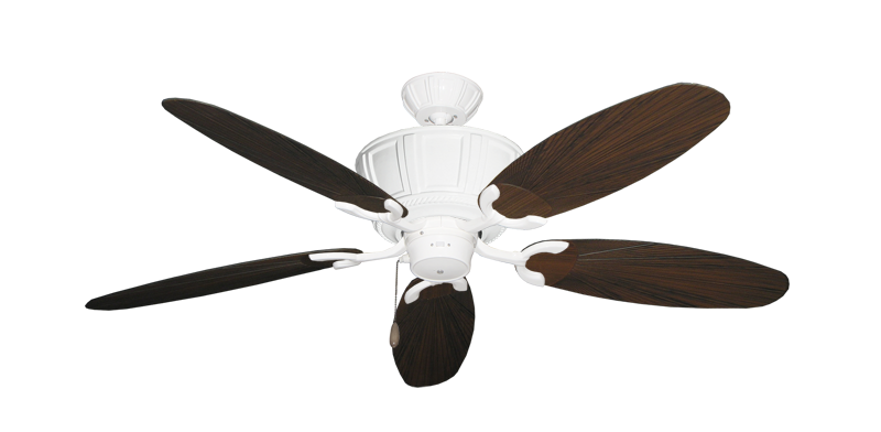 "Picture of Centurion Pure White with 52"" Outdoor Leaf Oil Rubbed Bronze Blades"