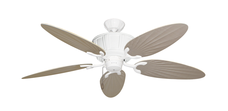 """Picture of Centurion Pure White with 52"""" Outdoor Palm Distressed White Blades"""
