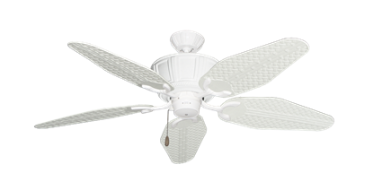 "Picture of Centurion Pure White with 52"" Outdoor Weave Pure White Blades"