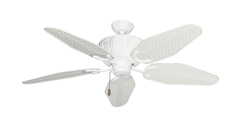 """Picture of Centurion Pure White with 52"""" Outdoor Weave Pure White Blades"""