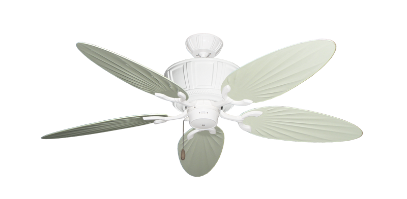 """Picture of Centurion Pure White with 52"""" Outdoor Palm Antique White Blades"""