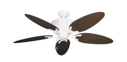 "Picture of Centurion Pure White with 52"" Outdoor Bamboo Oil Rubbed Bronze Blades"
