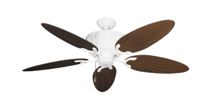 "Picture of Centurion Pure White with 52"" Outdoor Palm Oil Rubbed Bronze Blades"