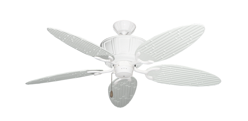 """Picture of Centurion Pure White with 52"""" Outdoor Bamboo Pure White Blades"""