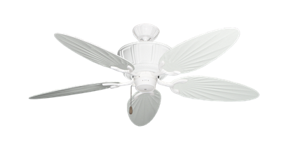 """Centurion Pure White with 52"""" Outdoor Palm Pure White Blades"""
