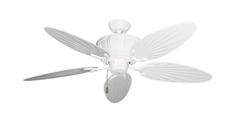 """Picture of Centurion Pure White with 52"""" Outdoor Palm Pure White Blades"""