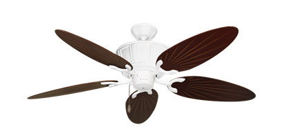 """Centurion Pure White with 52"""" Outdoor Palm Wine Blades"""