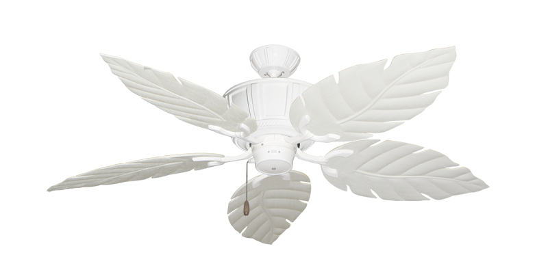 """Centurion Pure White with 52"""" Venetian Pure White Blades"""