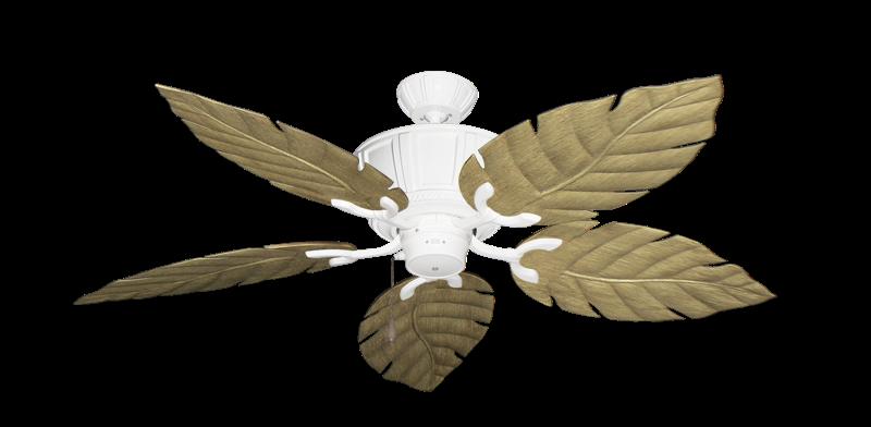 """Centurion Pure White with 52"""" Venetian Walnut Blades"""
