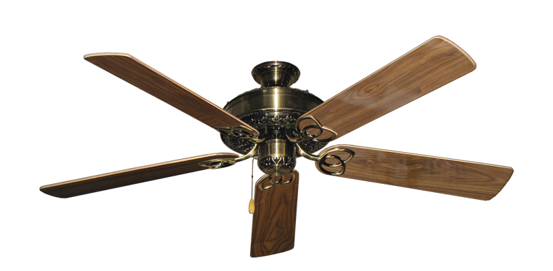 "Picture of Renaissance Antique Brass with 56"" Walnut Gloss Blades"