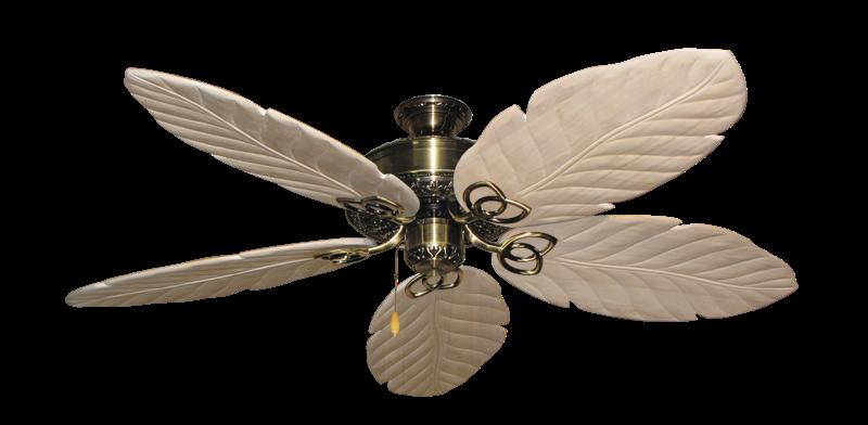"Picture of Renaissance Antique Brass with 58"" Series 100 Arbor Whitewash Blades"