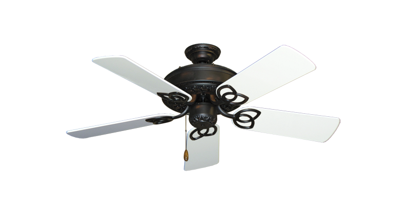 """Picture of Renaissance Oil Rubbed Bronze with 44"""" Pure White Gloss Blades"""