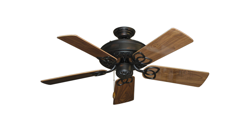 "Picture of Renaissance Oil Rubbed Bronze with 44"" Walnut Gloss Blades"
