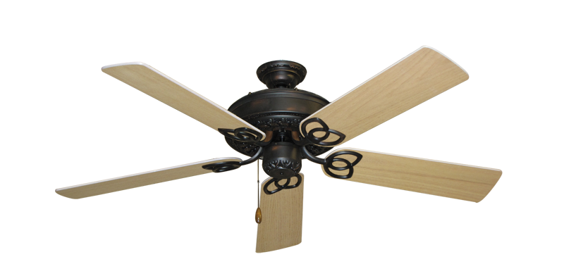 "Picture of Renaissance Oil Rubbed Bronze with 52"" Unfinished Oak Blades"