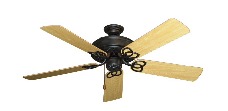 "Picture of Renaissance Oil Rubbed Bronze with 52"" Honey Oak Gloss Blades"