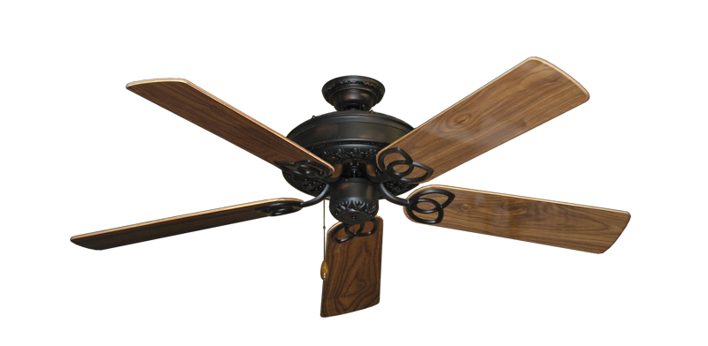 "Picture of Renaissance Oil Rubbed Bronze with 52"" Walnut Gloss Blades"