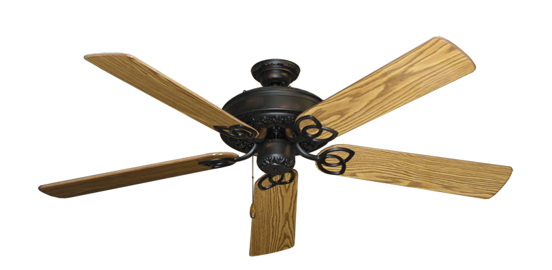 "Picture of Renaissance Oil Rubbed Bronze with 56"" Oak Gloss Blades"