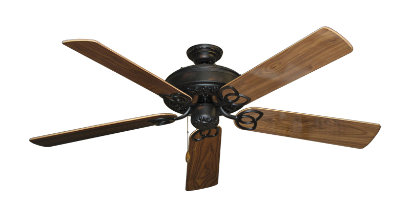 """Picture of Renaissance Oil Rubbed Bronze with 56"""" Walnut Gloss Blades"""