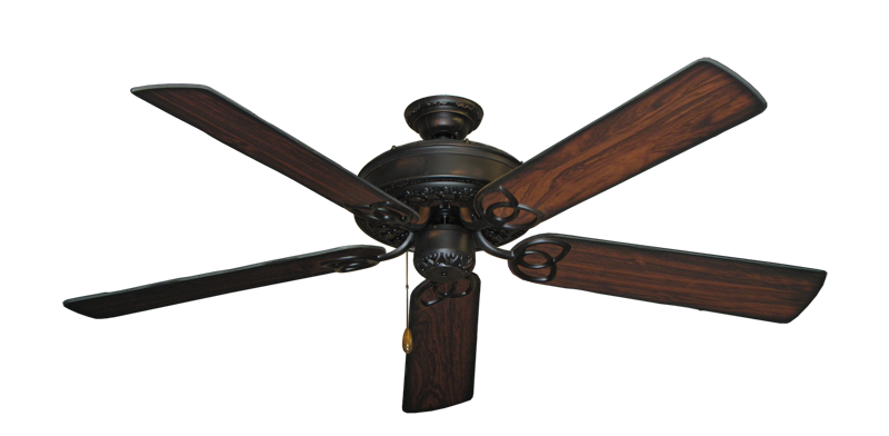 """Picture of Renaissance Oil Rubbed Bronze with 56"""" Burnt Cherry Blades"""
