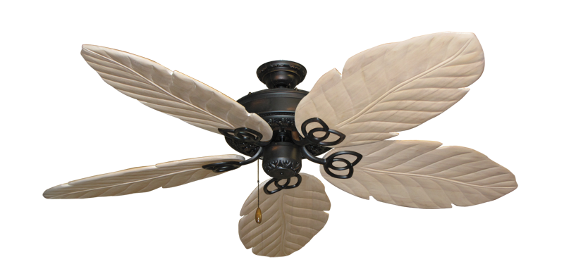 """Picture of Renaissance Oil Rubbed Bronze with 58"""" Series 100 Arbor Whitewash Blades"""