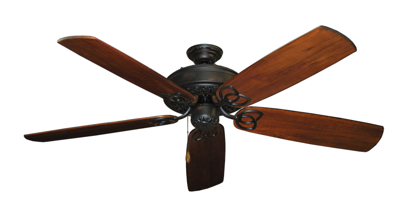"""Picture of Renaissance Oil Rubbed Bronze with 60"""" Series 450 Arbor Cherrywood Blades"""