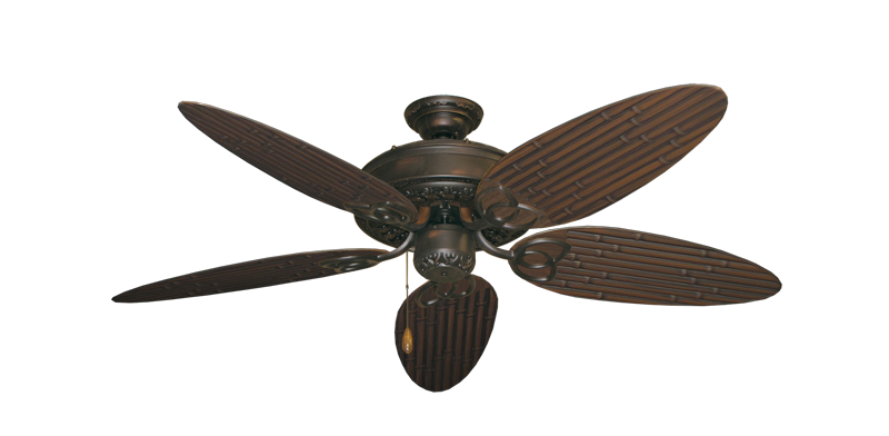 """Picture of Renaissance Oil Rubbed Bronze with 52"""" Outdoor Bamboo Oil Rubbed Bronze Blades"""