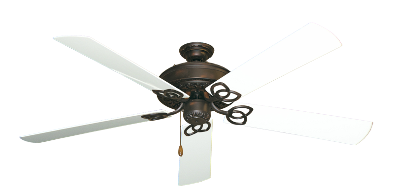 """Picture of Renaissance Oil Rubbed Bronze with 60"""" Outdoor Pure White Blades"""
