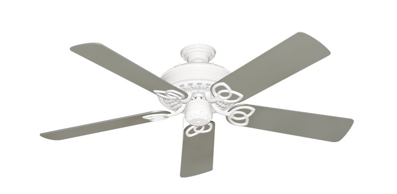 """Picture of Renaissance Pure White with 52"""" Satin Steel (painted) Blades"""