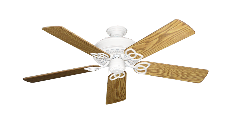 """Picture of Renaissance Pure White with 52"""" Oak Gloss Blades"""