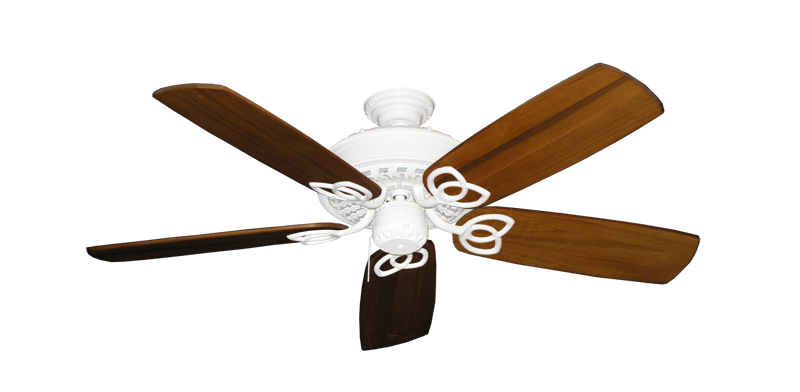 "Picture of Renaissance Pure White with 52"" Series 425 Arbor Oak Blades"