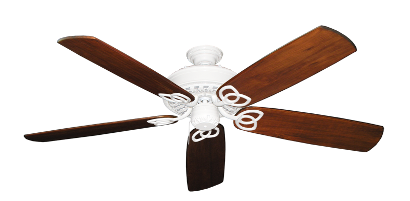 """Picture of Renaissance Pure White with 60"""" Series 450 Arbor Cherrywood Blades"""