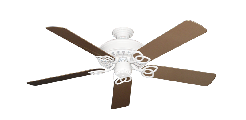 """Picture of Renaissance Pure White with 52"""" Outdoor Brown Blades"""