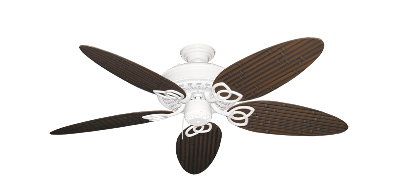 """Picture of Renaissance Pure White with 52"""" Outdoor Bamboo Oil Rubbed Bronze Blades"""