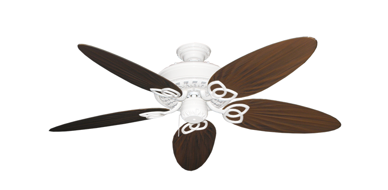 """Picture of Renaissance Pure White with 52"""" Outdoor Palm Oil Rubbed Bronze Blades"""