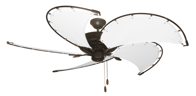 "Raindance Oil Rubbed Bronze with 52"" Nautical Fabric Pure White Blades (add $99.99)"