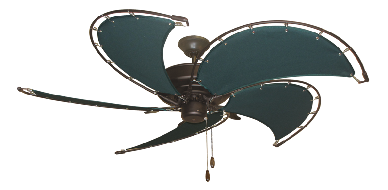 """Picture of Raindance Oil Rubbed Bronze with 52"""" Nautical Fabric Green Blades (add $99.99)"""