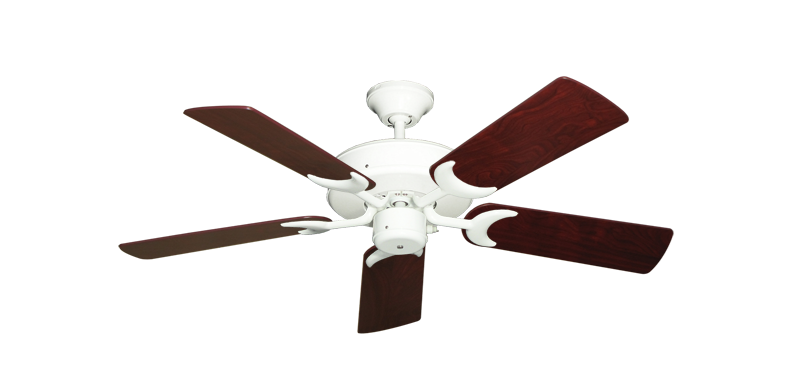 """Picture of Patio Fan Pure White with 44"""" Cherrywood Blades"""