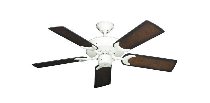 """Picture of Patio Fan Pure White with 44"""" Distressed Hickory Blades"""