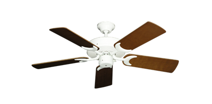 "Picture of Patio Fan Pure White with 44"" Natural Cherry Blades"