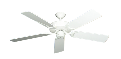 "Picture of Patio Fan Pure White with 52"" Pure White Gloss Blades"
