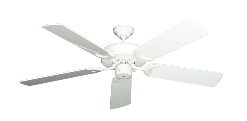"""Picture of Patio Fan Pure White with 52"""" Pure White Gloss Blades"""