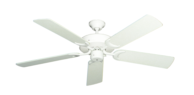 "Picture of Patio Fan Pure White with 52"" Navajo White Blades"