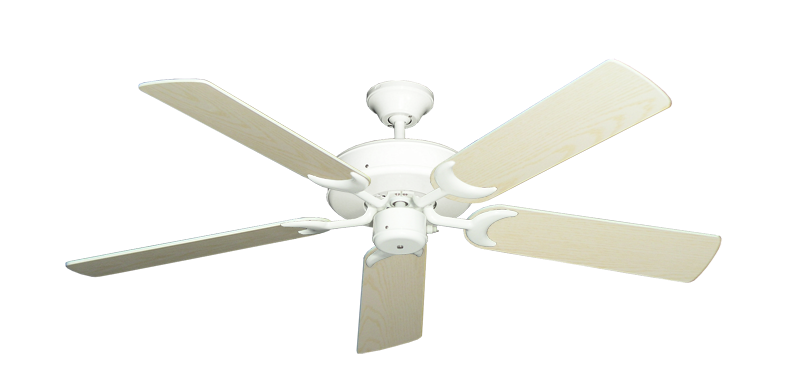"""Picture of Patio Fan Pure White with 52"""" Pine Blades"""