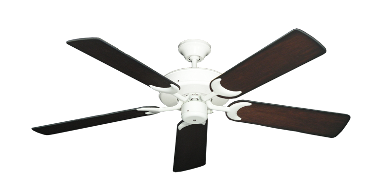 "Picture of Patio Fan Pure White with 52"" Distressed Cherry Blades"
