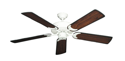 "Picture of Patio Fan Pure White with 52"" Burnt Cherry Blades"