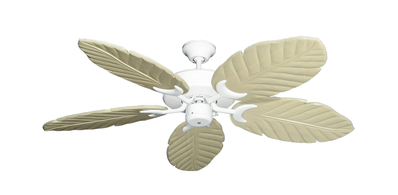 "Picture of Patio Fan Pure White with 52"" Series 125 Arbor Whitewash Blades"