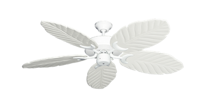 "Picture of Patio Fan Pure White with 52"" Series 125 Arbor Pure White Blades"